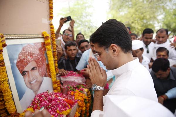 पूर्व केंद्रीय मंत्री स्व. राजेश पायलट को श्रद्धा सुमन अर्पित