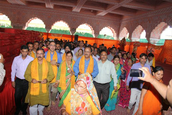 The concluding of Mahamantra Parikrama Festival, written in the world by 52 billion manuscripts - Jaipur News in Hindi