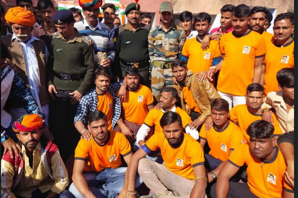 Rajasthan youth made 400 meters running track in two days, - Jaipur News in Hindi