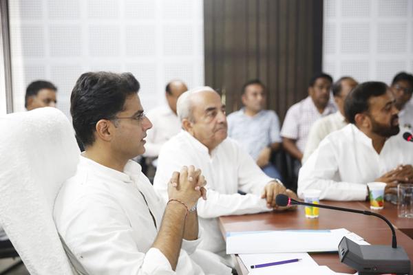 Sachin Pilot held a review meeting of departmental works in Sirohi - Sirohi News in Hindi