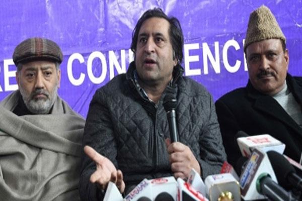 JKPC chief Sajjad Lone released from house arrest - Srinagar News in Hindi