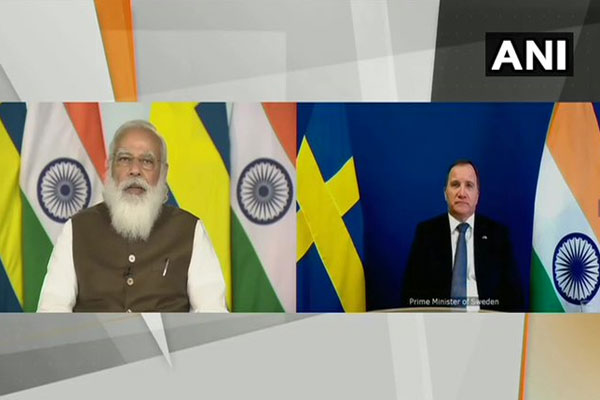 PM Modi has a virtual meeting with the Prime Minister of Sweden, said- by 2030, we aim to put 450 gigawatts of renewable energy - Delhi News in Hindi