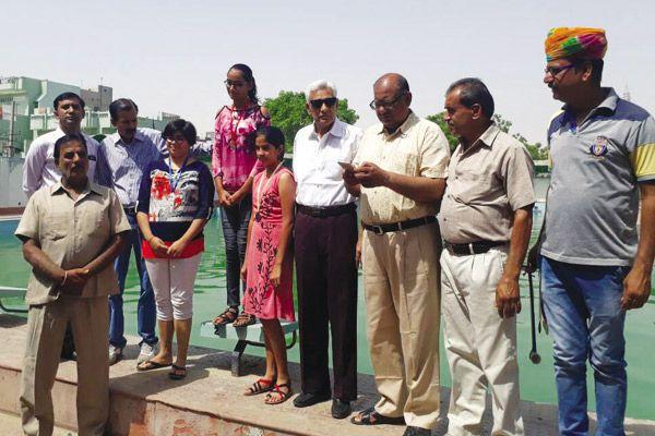 Swimming competition at the Rajiv Gandhi Swimming pool MM Ground - Bikaner News in Hindi
