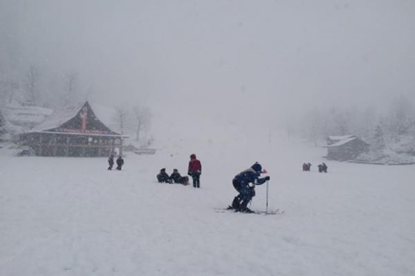 Tourists gathered in Shimla, Manali amid heavy snowfall - Shimla News in Hindi