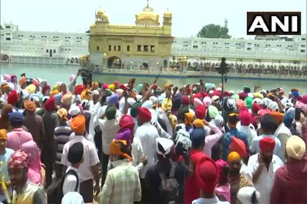 Navjot Singh Sidhu show of strength in Punjab, reached Amritsar Golden Temple, see photos - Punjab-Chandigarh News in Hindi
