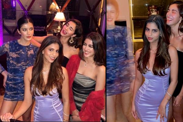 Suhana Khan parties with BFFs Ananya Panday, Shanaya Kapoor, Navya Naveli Nanda - Bollywood News in Hindi