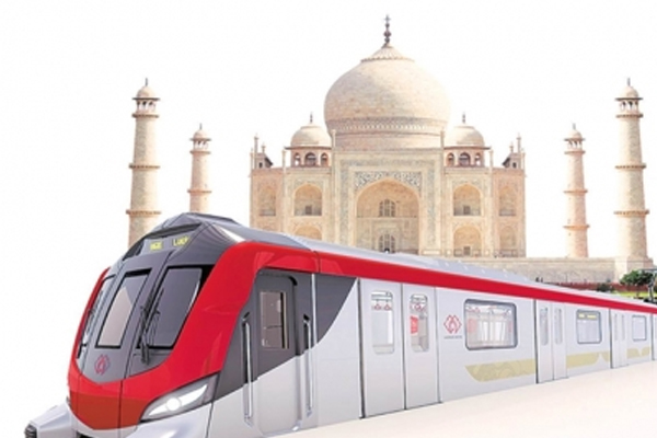 Agra Metro construction work picked up pace - Agra News in Hindi
