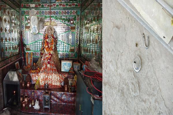शहर के दो प्रसिद्ध मंदिरों में चोरी, पुलिस लाचार