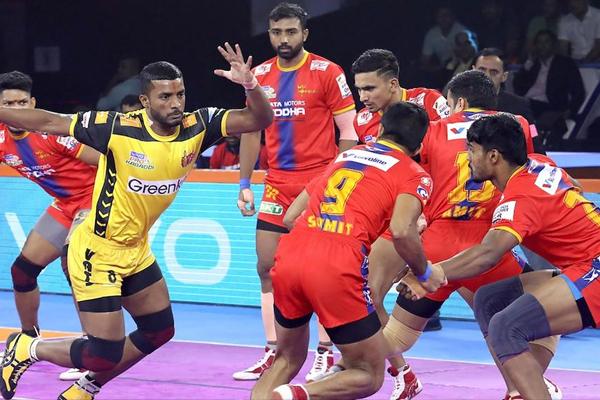 PKL 7: UP-Telugu play a low-score tie - Sports News in Hindi