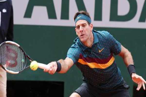 टेनिस खिलाड़ी डेल पोत्रो के घुटने की होगी सर्जरी