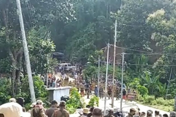 Tension in Assam-Mizoram border, security forces on alert - Silchar News in Hindi