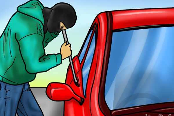 The crooks came to steal the car in Jaipur, stole the glass and stole cash - Jaipur News in Hindi