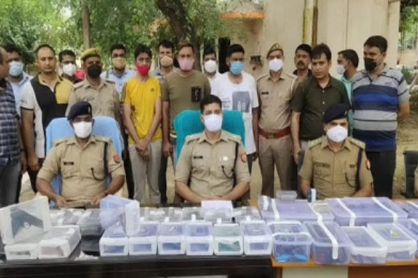 Three arms smugglers arrested in joint operation of police were going to set up arms factory in Meerut. - Greater Noida News in Hindi