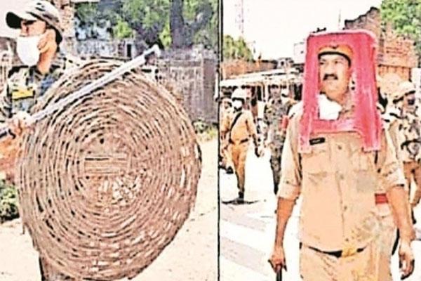 दंगा रोकने के लिए पुलिस ने लिया कुर्सी, टोकरी का सहारा, डीजीपी ने दिए जांच के आदेश