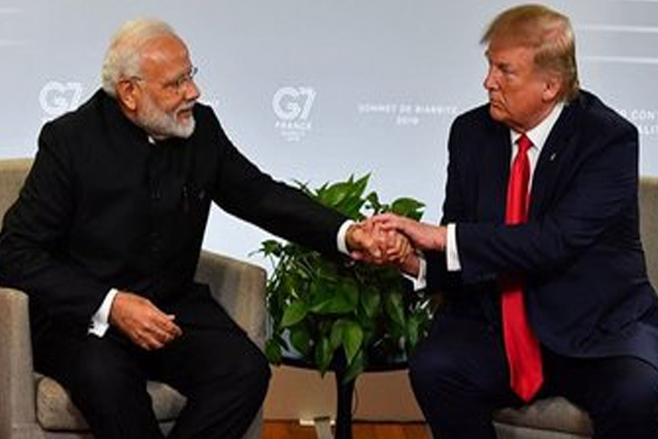 US President Donald Trump tweets, Just wrapped up a great meeting with my friend Prime Minister Narendra Modi of India at the G7Summit in Biarritz, France - World News in Hindi