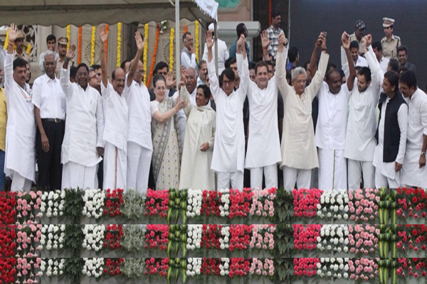oppositions show of strength in karnataka non bjp parties unity at kumaraswamy swearing in may challenge modi in elections - Delhi News in Hindi