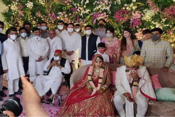 Yadav family came together forgetting differences in family marriage in UP - Etawah News in Hindi
