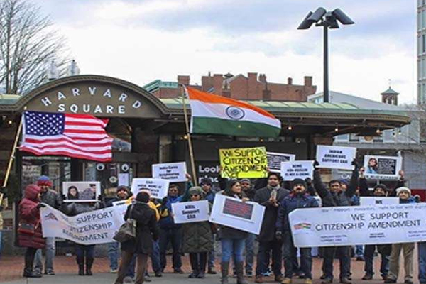 Indian Americans hold rallies in support of CAA - Delhi News in Hindi