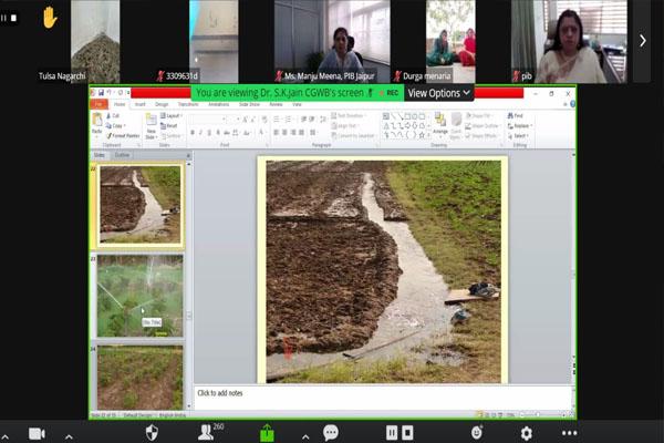 Webinar organized by press Information Office Jaipur on the subject of rain water harvesting - Jaipur News in Hindi