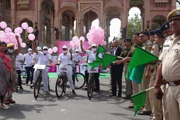 Women empowerment cycle rally in Jaipur flagged off - Jaipur News in Hindi