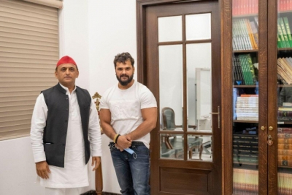 The glamor of Bhojpuri stars will be in the UP elections, Khesari Lal meets Akhilesh - Lucknow News in Hindi