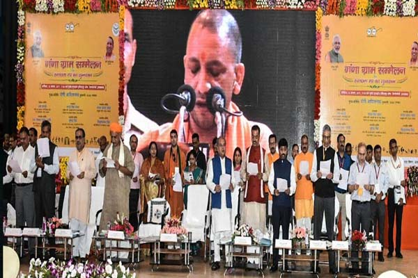 CM announces open defecation to 122 villages of allahabad - Allahabad News in Hindi
