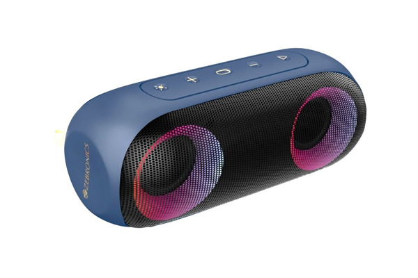 Zebronics launches powerful speaker Zeb-Music Bomb X with IPX7 rating - Gadgets News in Hindi