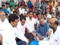 Negligence in the rescue work for the people trapped in flood, MLA sits on dharna