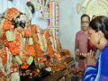 Dungarpur-Chief Minister Vasundhara Raje worshiped at Beneshwar Dham