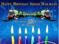 Railway Birthday Celebration, Cut cake, Indian Rail first time ran on April 16, 1853 From Mumbai to Thane