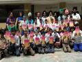 Copies and pencils were distributed to school children in Ludhiana