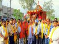 Lord Rams RathYatra taken from Shiv Temple in Ludhiana