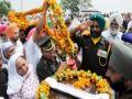 Last farewell to Shaheed Paramjit Singh in village of Tarn Taran