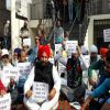 Apne punjab party candidate at hunger strike against notbandi