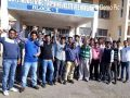 ITI Apprentice performs outside the small secretariat in support of their demands
