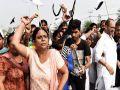 arvind Kejriwal start election campaign in Punjab, Black Flags Shown