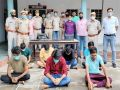 7 accused including satta king arrested in Alwar, 21.09 lakh cash, 16 mobiles, 8 laptops and diaries worth crores recovered