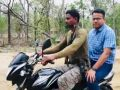 Collector and sp visited Maoist hit sukma on bike