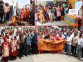 display rally in Gudiya murder case, candle march too