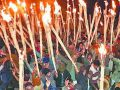 Torch jungle on the old Deepawali