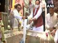 BJP national president Nadda worshiped at Kashi Vishwanath temple - see photos