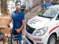 Man fined for overspeeding his bicycle by highway police in Kerala