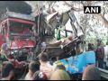 Mini bus and canter truck collide in Moradabad, 10 people dead