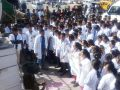 Medical college protests ground clearance for parking, students protest at the collection