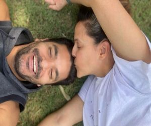 Neha Dhupia, Angad Bedi isolated in different towns on 3rd anniversary - Hindi News