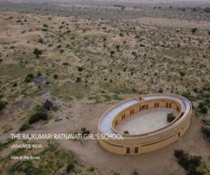 Ovals created in sand speak story of sustainability in Jaisalmer school - Hindi News