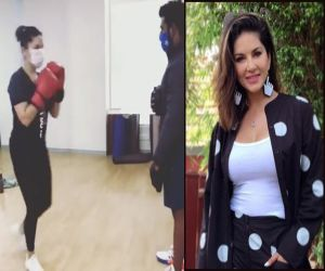 Sunny Leone: Difficult to box with mask on, but safety over comfort - Hindi News